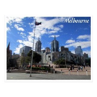 melbourne fed square skyline postcard