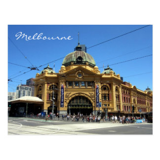 melbourne flinders station postcard