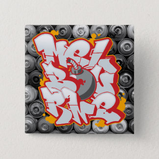 Melbourne Graffiti Bubble Letters Button