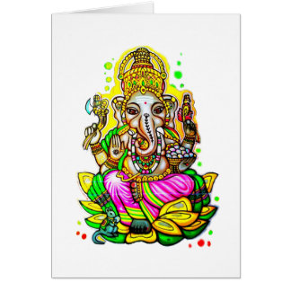Melbourne Graffiti Street Art Ganesh Elephant Neon Card