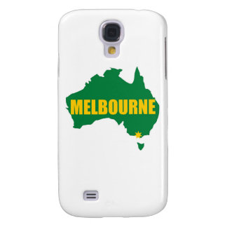 Melbourne Green and Gold Map Samsung Galaxy S4 Cover