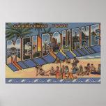 Melbourne, la Florida - escenas grandes de la letr Poster