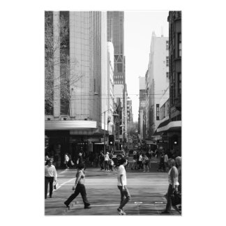 Melbourne - Little Collins x Swanston Street Photograph