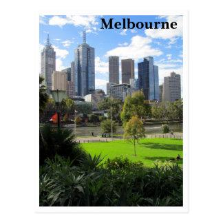 melbourne park skyline postcard