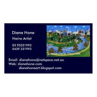 Melbourne por la piedra de afilar de Diana Tarjetas De Visita