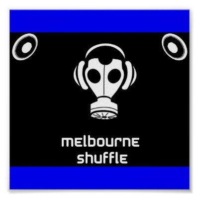 Melbourne shuffle poster from Zazzle.