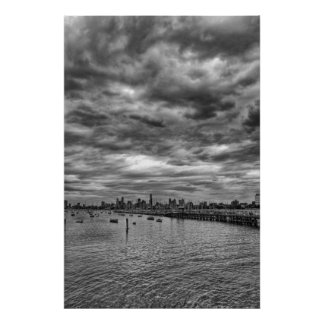 Melbourne skyline from St. Kilda Posters