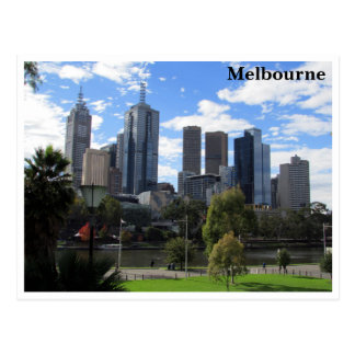 melbourne skyline postcard