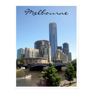 melbourne southbank skyline postcard