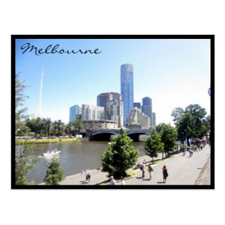 melbourne southbank walk postcard