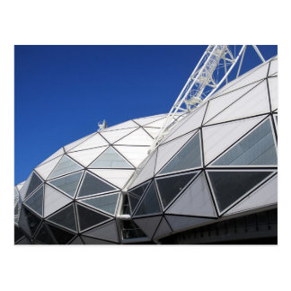 melbourne stadium triangles postcard