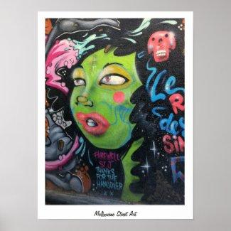 Melbourne Street Art poster