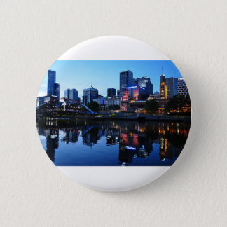 Melbourne Sunset Skyline Pinback Button
