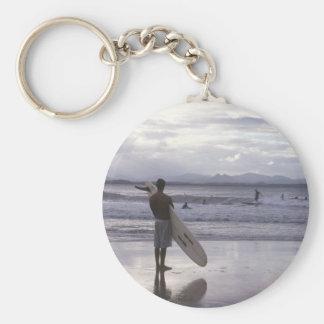 Melbourne Sunset Surfer Keychain