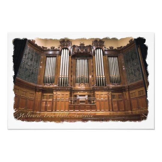 Melbourne Town Hall organ photo enlargement