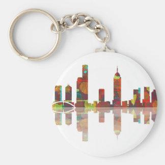 Melbourne Vic Skyline Keychain