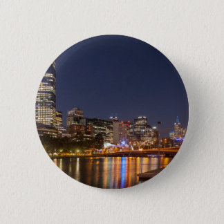 Melbourne' Yarra River at night Pinback Button