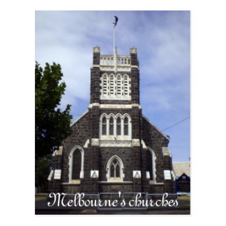 Melbourne's churches post cards