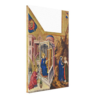 Melchior Broederlam - Annunciation and Visitatio Stretched Canvas Prints