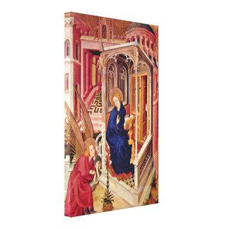 Melchior Broederlam - Annunciation and Visitation Stretched Canvas Print