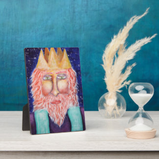 """""""Melchior"""" Three Kings Christmas Art Plaque"""