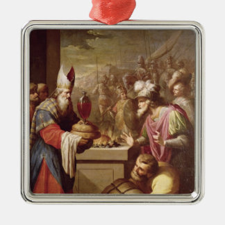 Melchizedek Offering Bread and Wine Metal Ornament