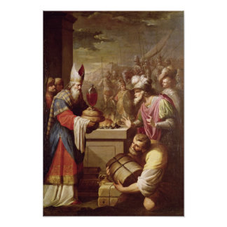 Melchizedek Offering Bread and Wine Poster