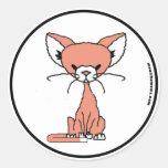 Melcocha el pegatina del gato (resuelva maúlla)