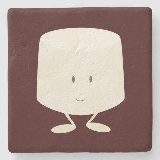 Melcocha sonriente posavasos de piedra