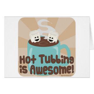 Melcochas calientes de Tubbing Tarjeta De Felicitación