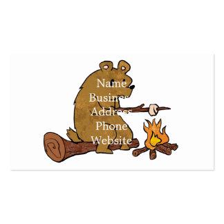 melcochas de la asación del oso tarjetas de visita