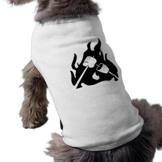 Melcochas de la asación camiseta de perro