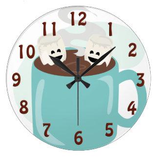 Melcochas felices en cacao reloj redondo grande