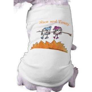 Melcochas tostadas camisetas de perro
