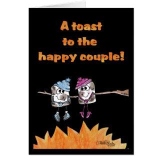 Melcochas tostadas tarjeta de felicitación