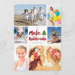 """Mele Kalikimaka Brush Christmas Photo Collage Card<br><div class=""""desc"""">Designed by fat*fa*tin. Easy to customize with your own text,  photo or image. For custom requests,  please contact fat*fa*tin directly. Custom charges apply.  www.zazzle.com/fat_fa_tin www.zazzle.com/color_therapy www.zazzle.com/fatfatin_blue_knot www.zazzle.com/fatfatin_red_knot www.zazzle.com/fatfatin_mini_me www.zazzle.com/fatfatin_box www.zazzle.com/fatfatin_design www.zazzle.com/fatfatin_ink</div>"""