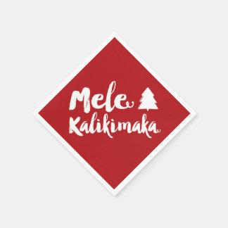 Mele Kalikimaka Brush Christmas Tree Holiday Party Napkin
