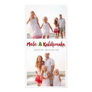 Mele Kalikimaka Brush Christmas Tree Photo Card
