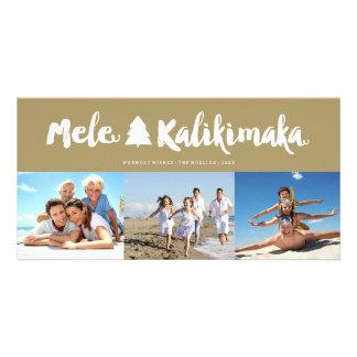 Mele Kalikimaka Brush Holiday Christmas Photo Card