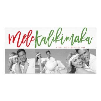 Mele Kalikimaka Brush Photo Collage Christmas Card