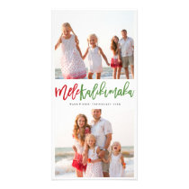 Mele Kalikimaka Brush Photo Collage Christmas Card