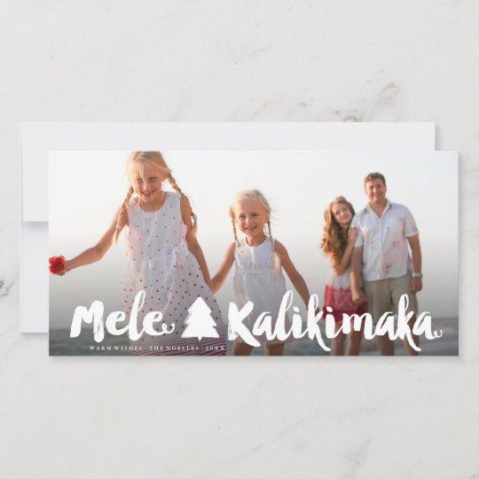 Mele Kalikimaka Christmas Cards.Mele Kalikimaka Brush Script Christmas Photo Card
