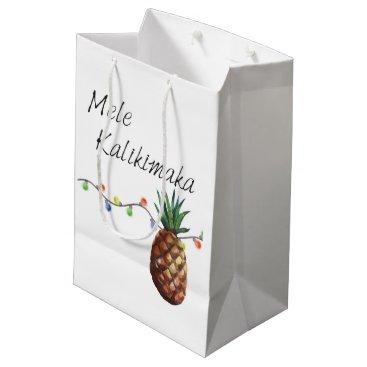 Christmas Themed Mele Kalikimaka - Christmas Gift Bag