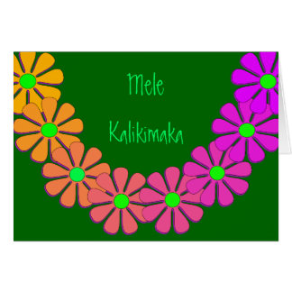 Mele Kalikimaka Christmas Hawaiian Greeting Card