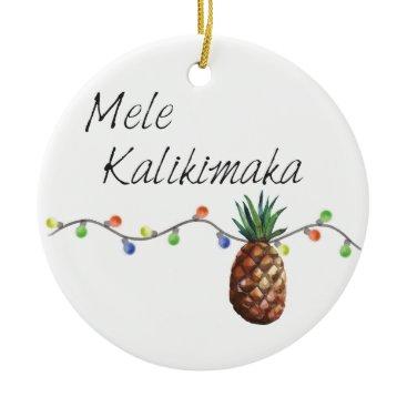 Christmas Themed Mele Kalikimaka - Christmas Ornament