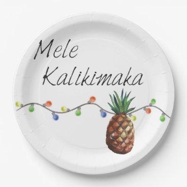 Christmas Themed Mele Kalikimaka - Christmas Paper Plates