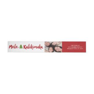 Mele Kalikimaka Christmas Photo Address Labels