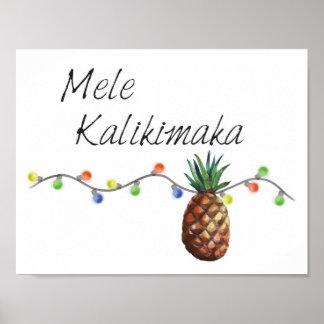 Mele Kalikimaka - Christmas Poster