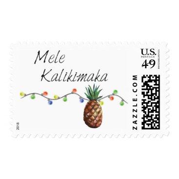 Christmas Themed Mele Kalikimaka - Christmas Stamps