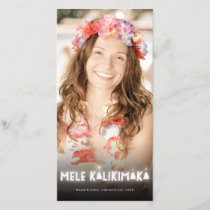 Mele Kalikimaka Christmas Trees Glow Photo Card